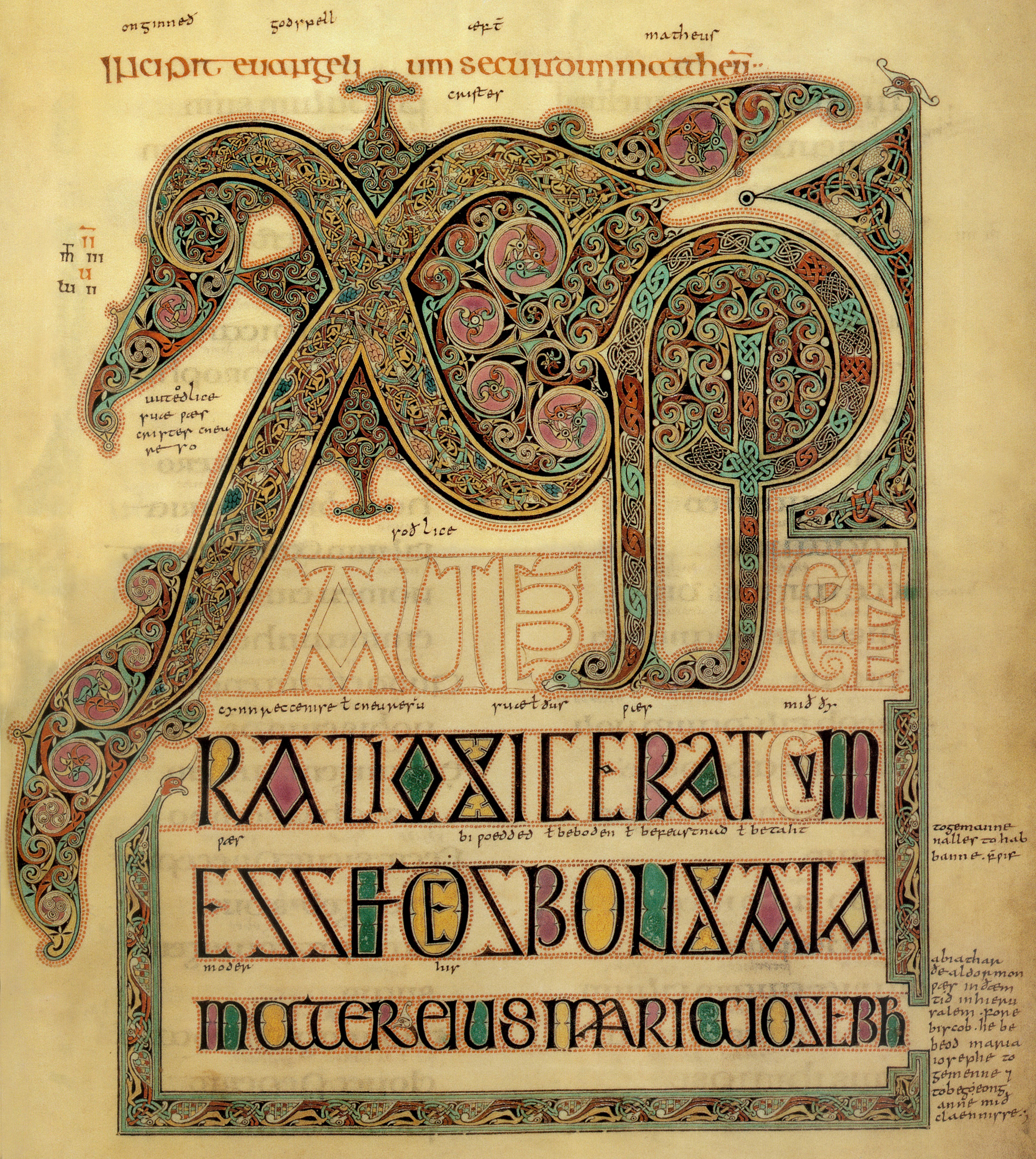 XPI Autem Generatio The Book Of Kells And The Chi Rho